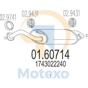 MTS 01.68580 Genuine New Exhaust with 2 year warranty