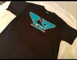 hot sale online 1e710 85d47 Details about Huelga Bird Mens San Jose Sharks Shirt L-3XL