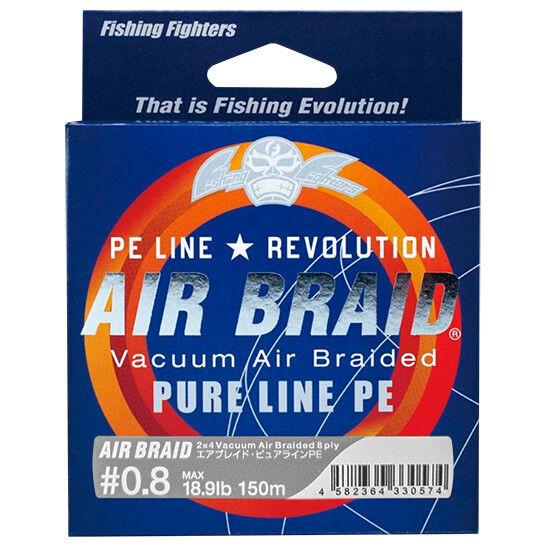 Aire luchadores de Pesca Trenza vacío línea pura PE 0.8 x8 18.9 lb 150 M