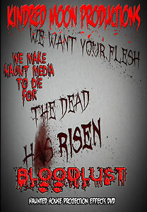 image is loading bloodlust halloween projection effects dvd haunted house props