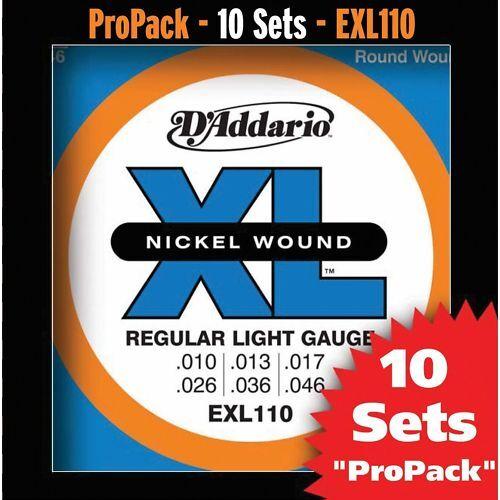 D 'addario exl110-10p exl110-10p exl110-10p 10 conjuntos de cuerdas para e-guitarra  directo de fábrica
