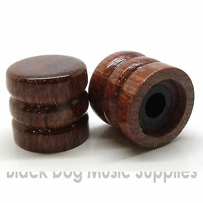 Wood guitar control knob Zebra, Ebony, Maple or Beach finish tone or volume