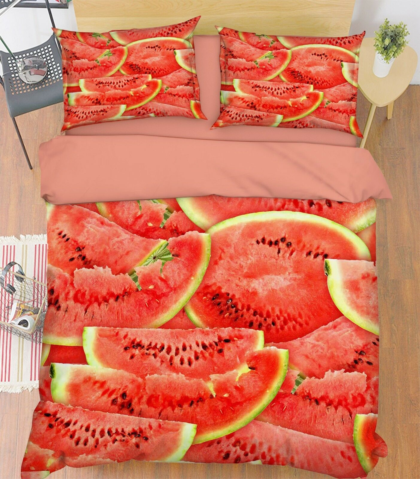 3d Watermelon 347 bett Cushion abdeckungs Stitch Duvet abdeckung Set Single Queen DE