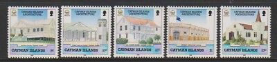 Sg 686/90 To Have A Long Historical Standing Mnh Architecture Set 1989 Diligent Cayman Islands