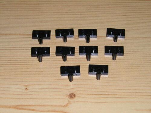 Lego 10x Platte mit Arm 1x2 4623 schwarz 6286 6285 6274 8877 6762 6959 6769 6986