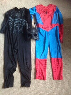 Marvel Spiderman - Batman Costume Fancy Dress Age 5-7 Years super hero Book day