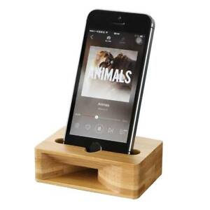 Image Is Loading Cell Phone Charging Dock Wooden Comb Desk Stand
