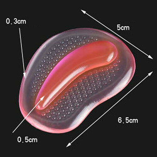 Gel Silicone Forefoot Pads Anti-Slip Pain Relief Orthotic Arch Support Insole@