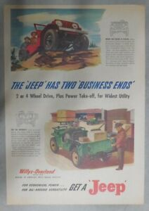 Willys-Car-Ad-The-Jeep-Has-Two-Business-Ends-from-1947-Size-11-x-15-inches