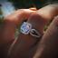thumbnail 1 - 925 Sliver Round Topaz Ring Wedding Engagement Queen Women Gift Wholesale 6-10