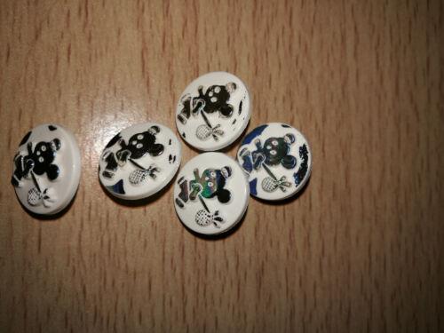 Nouveauté irisé Panda Boutons tige arrière Bébé Enfants Taille 14 mm
