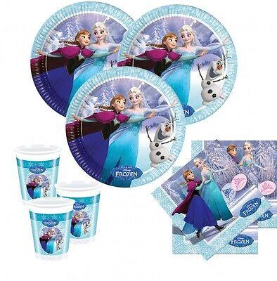 36 Teile Eiskönigin Ice Skating Party Deko Set - für 8 Kinder - Kindergeburtstag