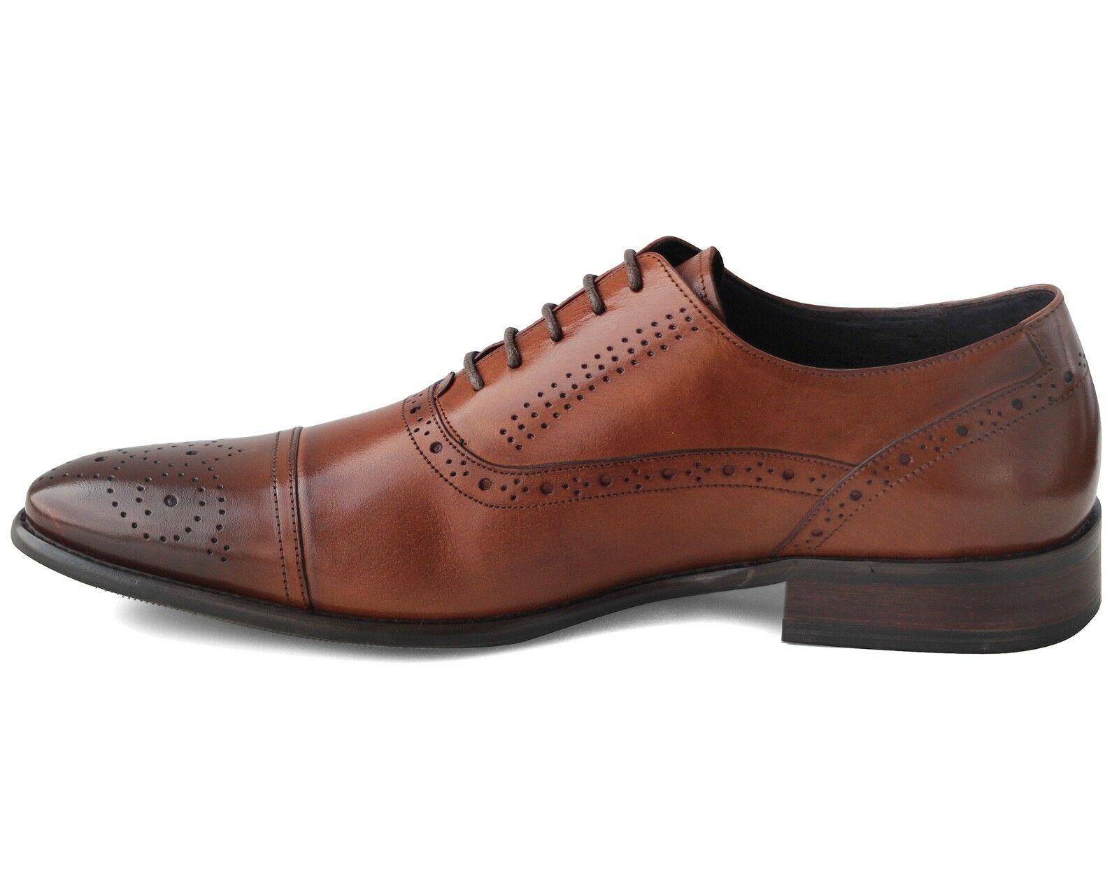 617 BRAND NEW MEN'S BROWN LEATHER SMART LACE UP Schuhe EU SIZE UK 9 / EU Schuhe 43 a8dfbe