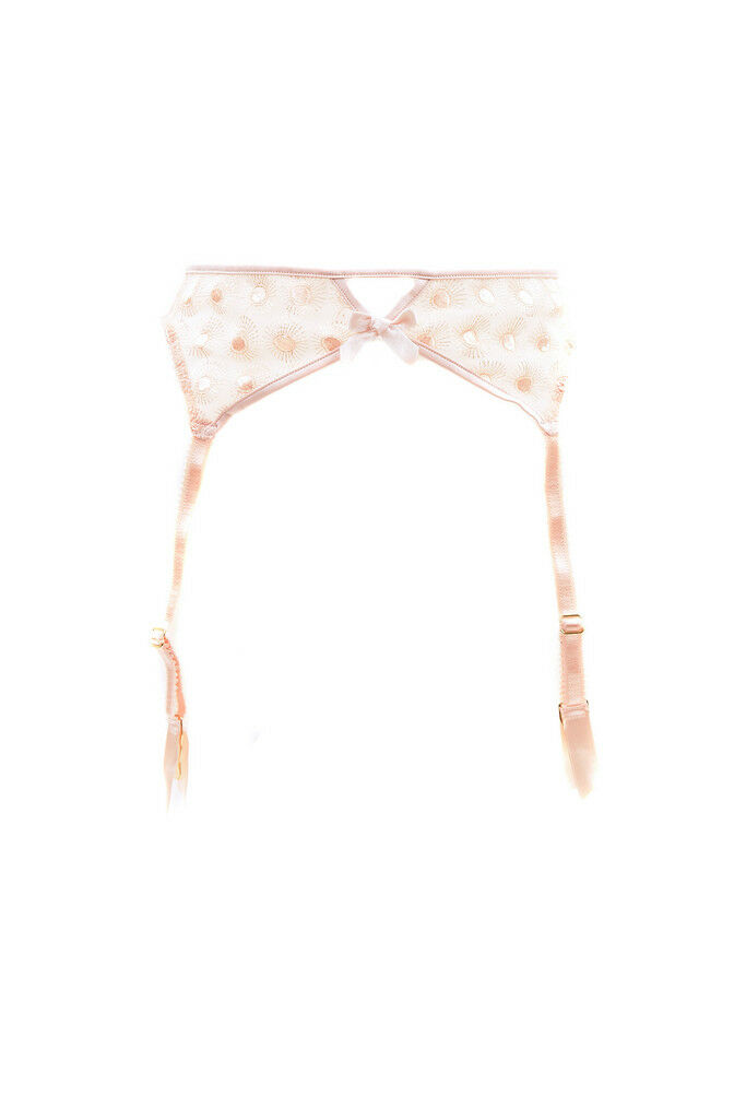 L'Agent by Agent Provocateur Women's New Printed Suspender Beige M RRP  BCF88