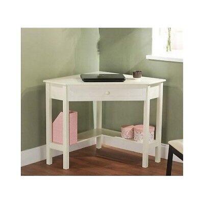 Furniture Corner Desk Table Wood Teen Office Nook Art Study Kids White Home  Dorm | eBay