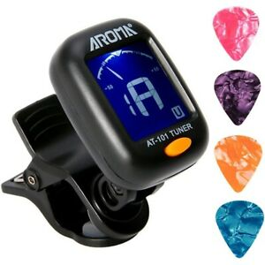 AROMA AT-101 Accordeur de Guitare ÉCran LCD pour Guitare ...