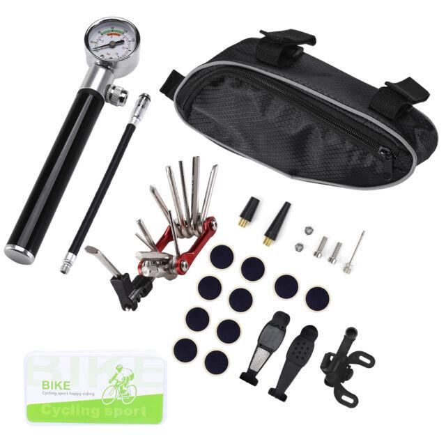 Bike 24 in 1 Repair Tool Kit With Bike Pump Mounting Bracket High Pressure Gauge