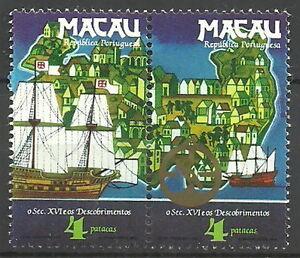 Macau-Entdeckungen-des-16-Jahrhunderts-Satz-Paar-postfrisch-1983-Mi-511-512