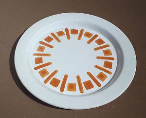 Grand-plat-rond-DIGOIN-MALTE-vintage-SARREGUEMINES-plat-tarte-gateau-orange