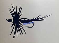 Fly Fishing Decal Bass Rainbow Trout Fisherman Car Truck SUV Window Sticker