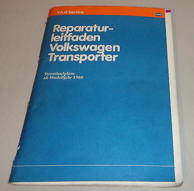 workshop manual volkswagen vw transporter bus t3 circuit diagrams mj 1980 -  1985