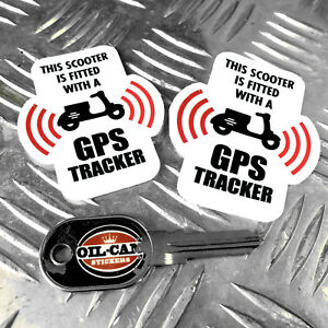SCOOTER-GPS-TRACKER-anti-theft-SECURITY-stickers-decals-x2-lambretta-vespa