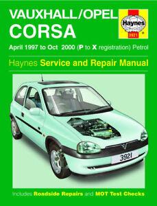 haynes workshop repair manual vauxhall corsa 97 00 ebay rh ebay co uk service manual opel corsa b pdf workshop manual - opel corsa_vauxhall