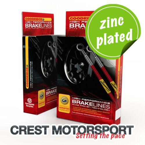 CRX Rear Discs 88-91 Goodridge Brake Hoses Honda Civic EC//ED//EE//EF incl Zinc