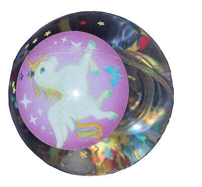 Kids Brillavano Unicorno Lampeggiante Lightup Led Palla Con Stella Metallici (6cm) - Rosa-mostra Il Titolo Originale Profitto Piccolo