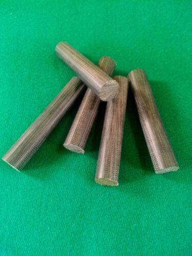"3/"" Black Canvas Phenolic Pool Billiard Ferrule Solid Rod Blank 1 Jump Break"
