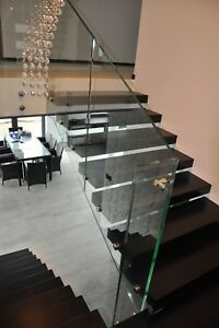 Details about staircase kit floating staircase cantilever staircase glass  staircase diy stairs