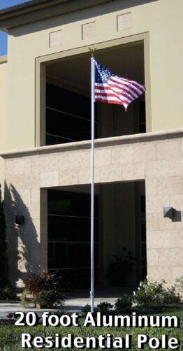 Eagle Foot 20ft Aluminum Residential Flagpole Pole