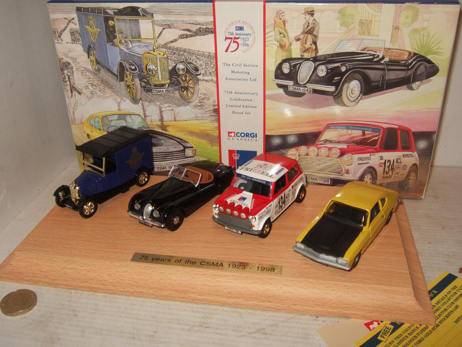 Corgi 05505 Civil Service Motoring Assoc Anniversary Set,XK120, Capri, Mini etc