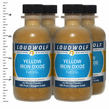 Iron Oxide Yellow 1 Lb Total 4 Bottles Reagent Grade 44 Micron Powder