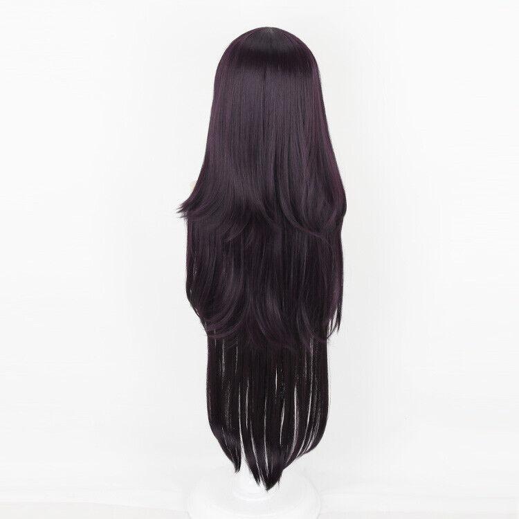free wig cap Dangan-Ronpa tsumiki mikan Dark purple 1M cosplay costume wig