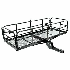"""500 lbs Foldable Hitch Cargo Carrier Mounted Basket Luggage Rack w/ 2"""" Receiver"""