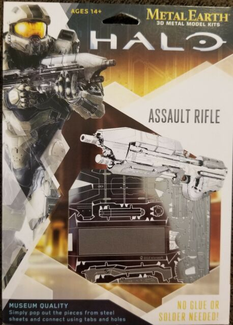 HALO Game Assault Rifle Metal Earth 3-D Laser Cut Steel Model Kit NEW SEALED