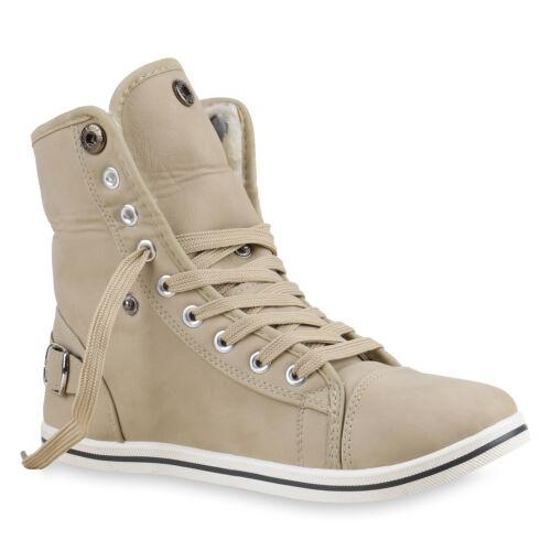 36-41 Top Warme Damen Sneakers Kunstpelz Sportschuhe Gefüttert 70109 Gr
