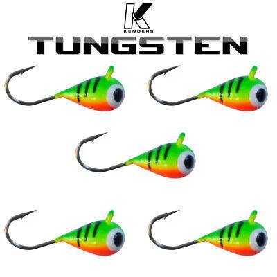 5mm Tungsten Jigs 6mm Kenders Outdoors Ice Fishing//Summer Fishing 3mm 4mm