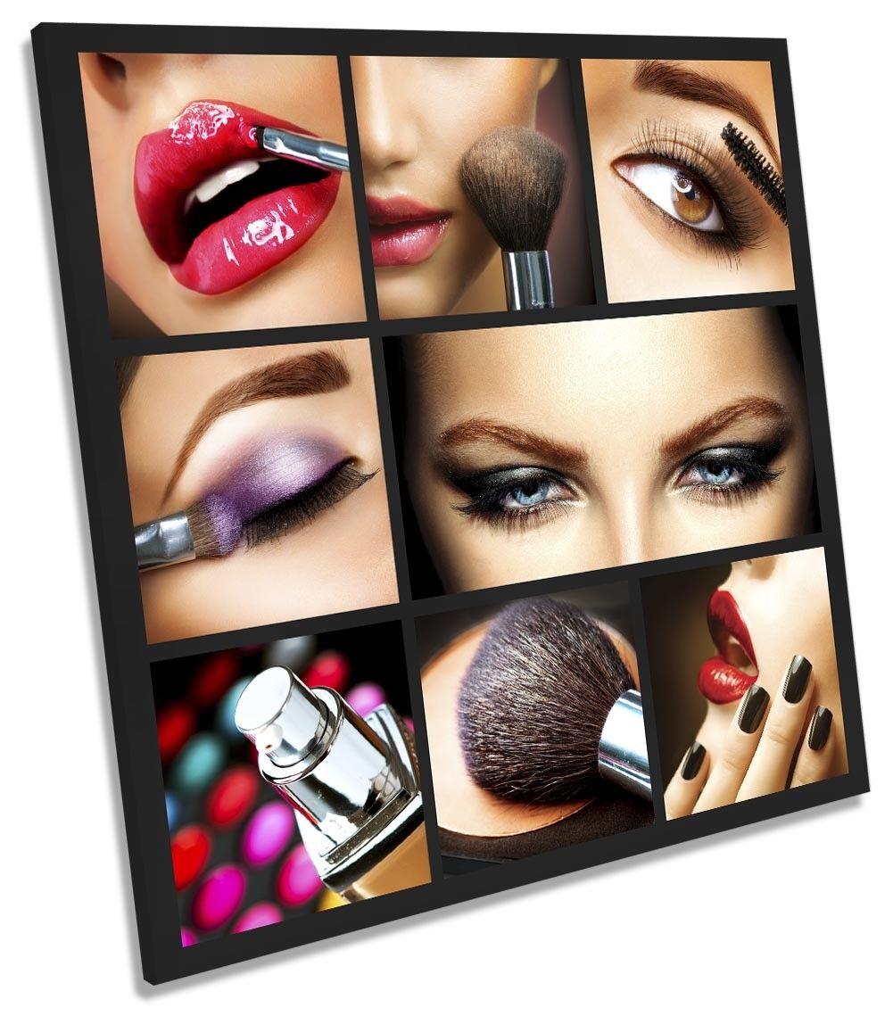 Beauty Salon Makeup Picture CANVAS WALL ART Square Print