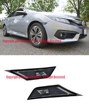 For 16-Up Honda Civic Smoke Front Bumper Reflector Side Marker Lights Lamps