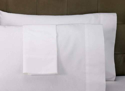1 new 20''x 29'' t180 twin pillow cases hotel grade premium percale bright white