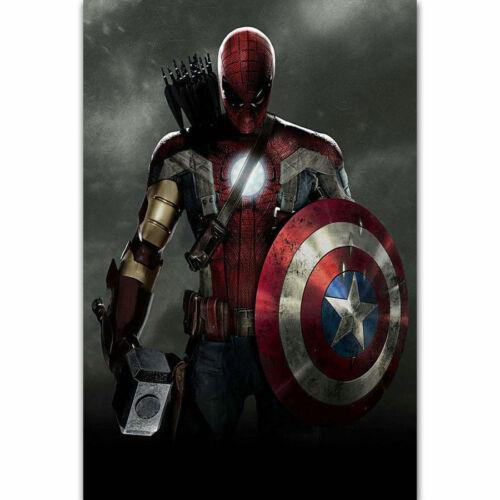 W602 Captain America 3 Marvel Movie Spider Man Iron Man Thor Poster Silk Art