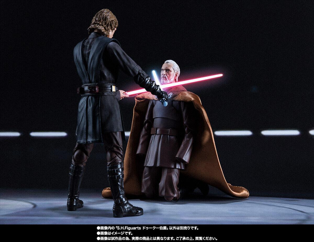 Nuovo Beai S.H.Figuarts estrella guerras Conte Dooku & Anakin cielowalker  Set Giappone  presa di fabbrica