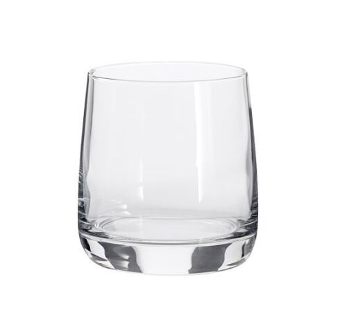 SET OF 6 POTTERY BARN DOUBLE OLD FASHIONED GLASS