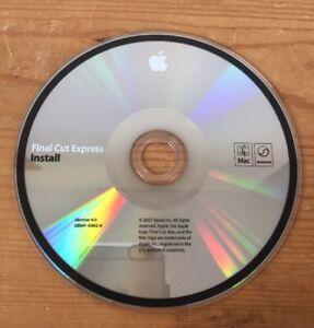 2007-Final-Cut-Express-Macintosh-4-0-Mac-Video-Editing-Software-Installation-CD