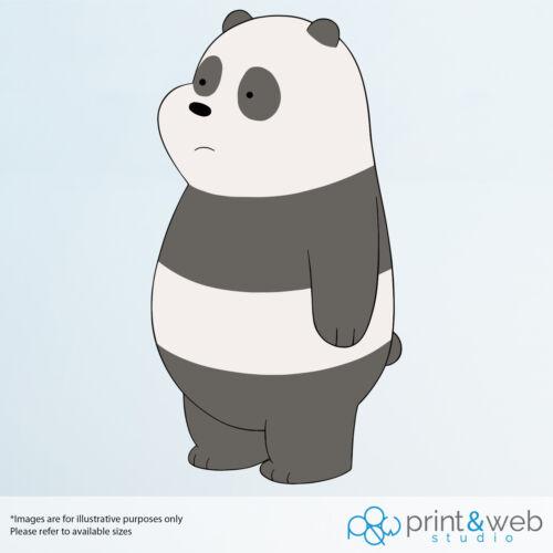Nous Bare Ours Panda Mur Autocollant Sticker Chambre Vinyle Enfants Ordinateur Portable Vélo Scooter