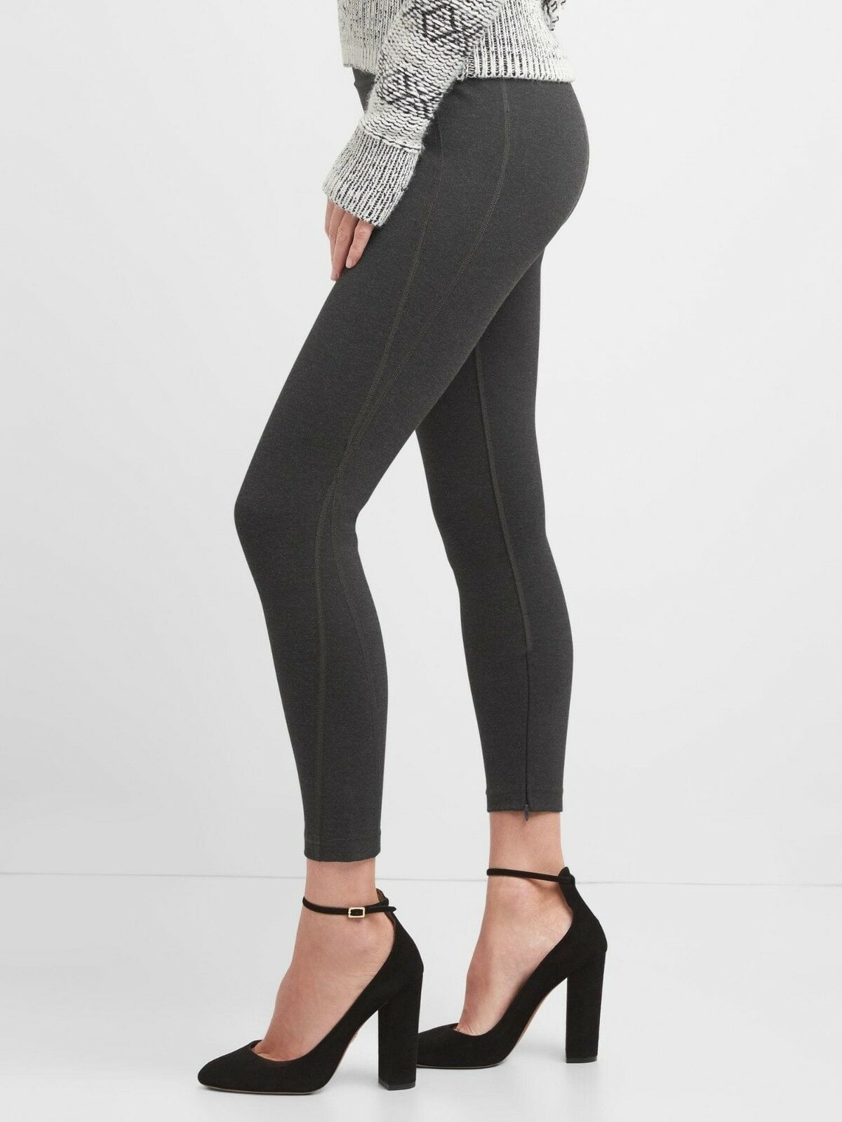 NEW GAP SCULPT HIGH RISE PONTE LEGGINGS TROUSERS GREY SMALL RRP .95 SOLD OUT