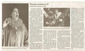 Theodore Lambrinos 85 Obituary New York Times Opera Baritone Puccini's Tosca