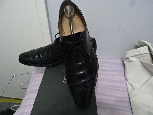 Mens Loake Walker Black Leather Lace-up Sneakers, Sz Uk 9 Eu 43, Great Condition